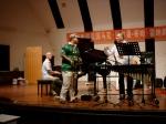 Setting up the jam with trombone professor Zhou Gang