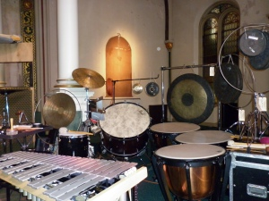 Mark's Percussion set up